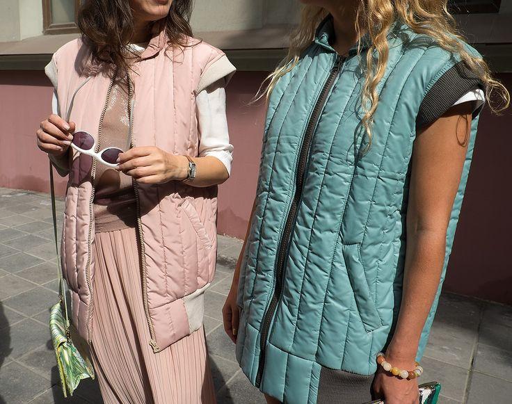 Оригинальная городская одежда со стеганными элементами для мужчин, женщин и детей, придуманная креативным агентством Husky Promo для друзей.