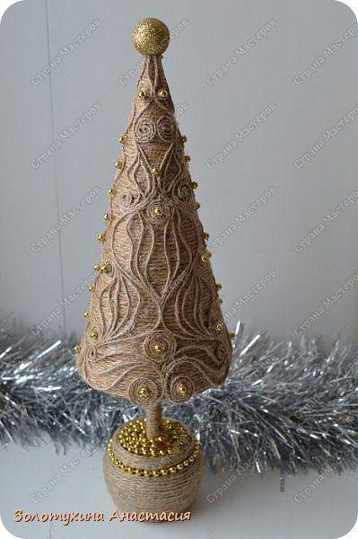 Декор предметов Поделка изделие Новый год Декупаж Картонаж Лепка Подготовка к Новому году  Гипс Картон Клей Шпагат фото 12