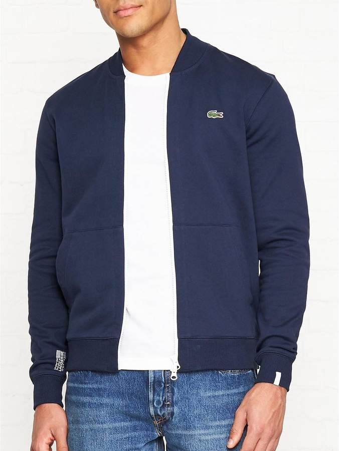 5f91afa8 LACOSTE LIVE Zip Up Sweatshirt Bomber Jacket- Navy | my acceroies ...