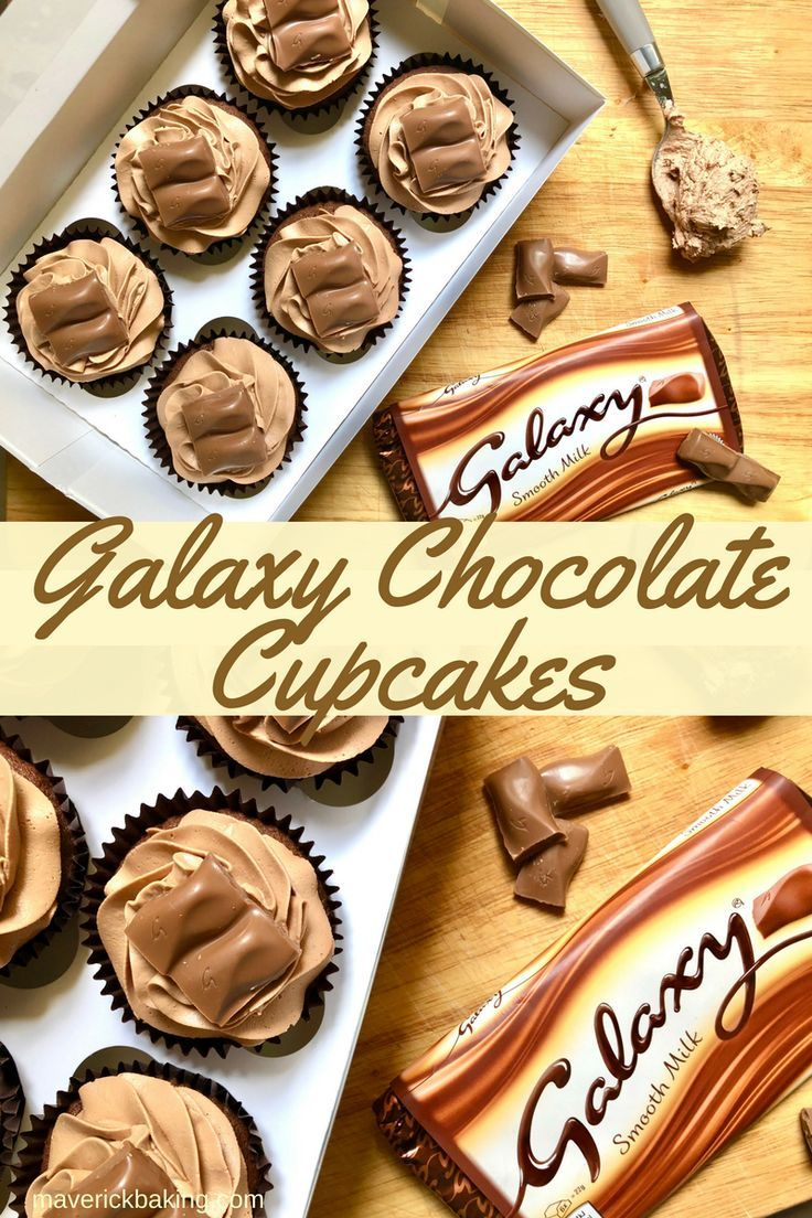Galaxy Chocolate Cupcakes Maverick Baking Recipe Cupcake Recipes Uk Chocolate Recipes Baking Recipes