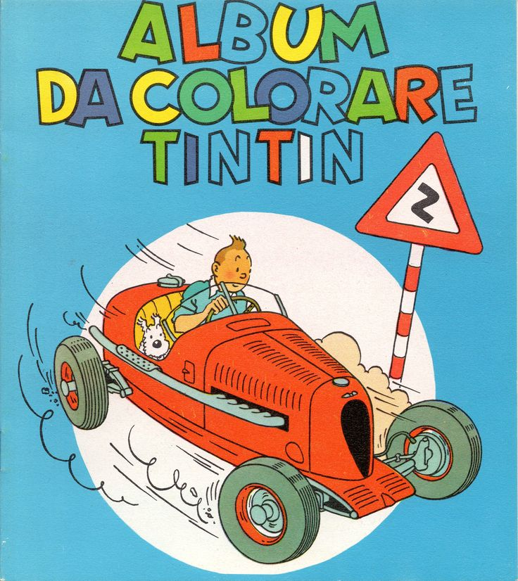 TINTIN COLOUR BOOK - GANDUS EDITORE (cm. 17 x 19 - 20 pages - 1968)