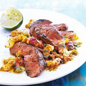 18 juli - Biefstuk in de bonus - Recept - Gegrilde biefstuk met pittige rivierkreeftjessaus - Allerhande