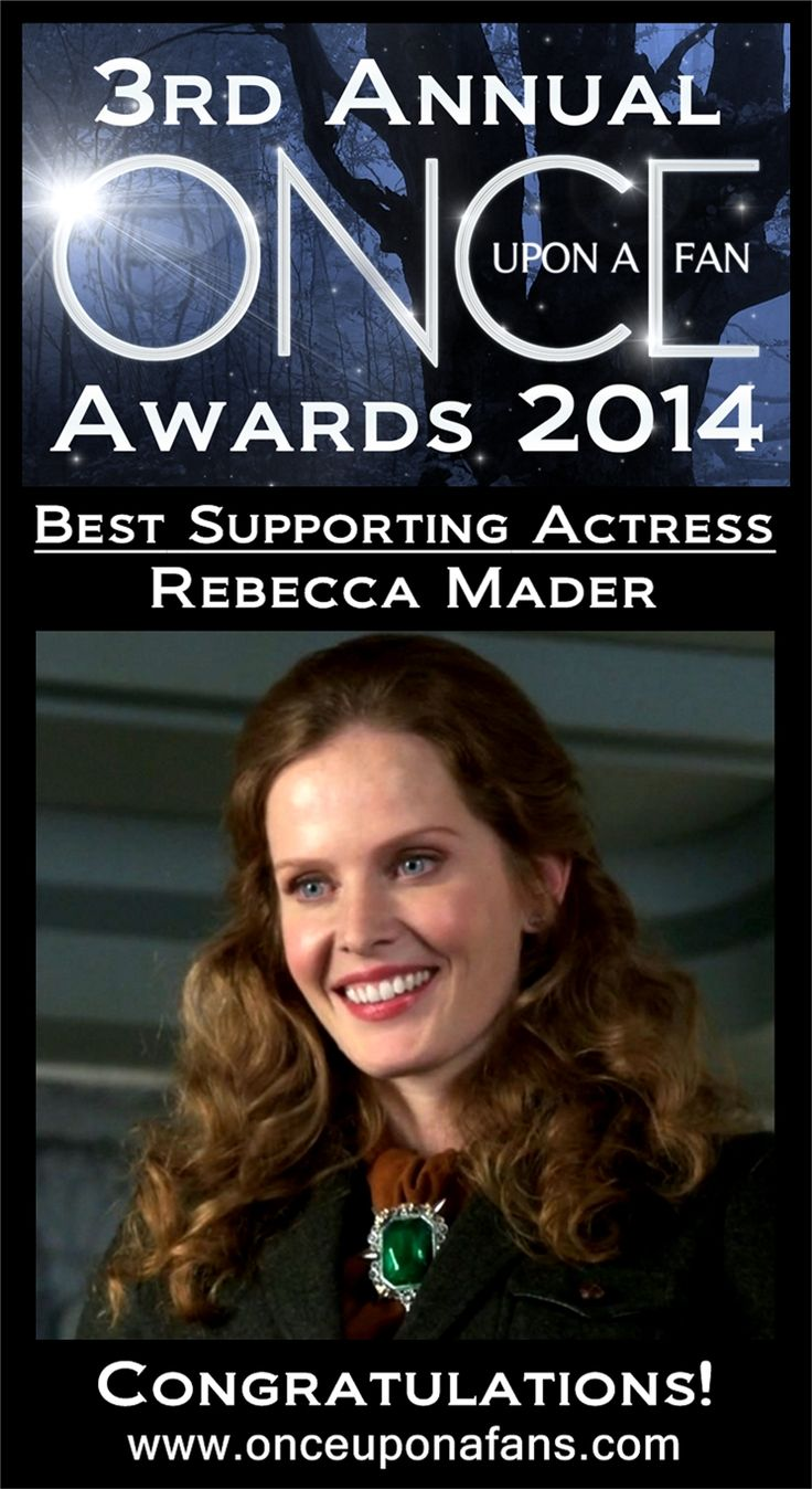 She cast a Wicked spell over all of you as Zelena. With a massive 64.67% of the total vote, Rebecca Mader takes home the Once Upon A Fan 'Best Supporting Actress' Award. #OnceUponATime #OnceUponAFanAwardsDay