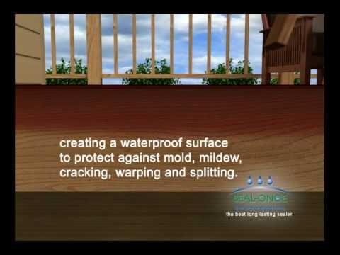 Seal-Once best non-toxic waterproofer wood deck sealer (youtube)
