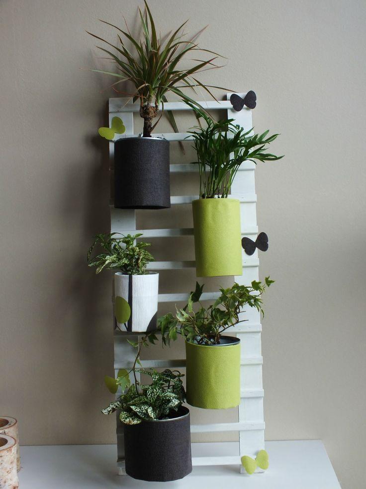 fabriquer une appliqué murale récup | DIY Déco récup : faire une échelle pour accrocher des plantes ...