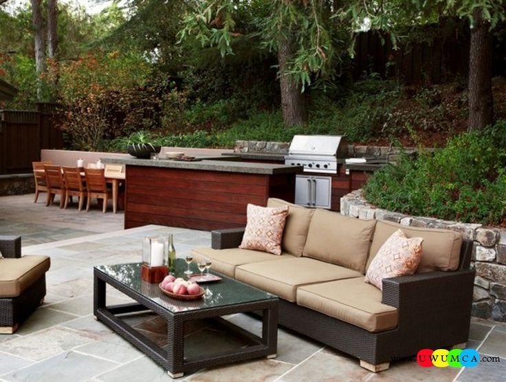 Furniture:Outdoor Bbq Seating Area Rustic Outdoor Summer Lounge Furniture Collection Easy Summer Garden Lounge Escapes Sofas Chairs Bar Table Set Luxurious Outdoor Decor Fruniture Collection To Enliven Your Relaxed Summer Lounge!