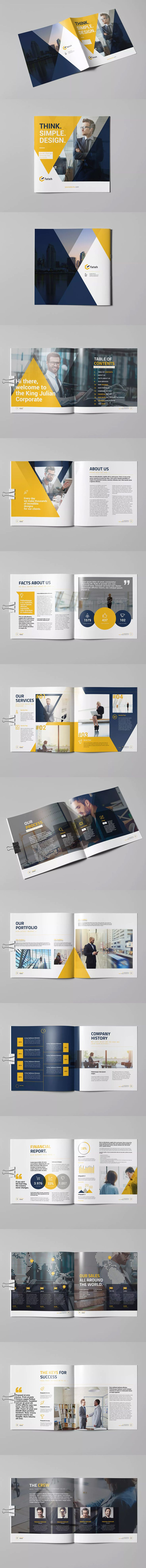 Square King Julian Brochure Template InDesign INDD