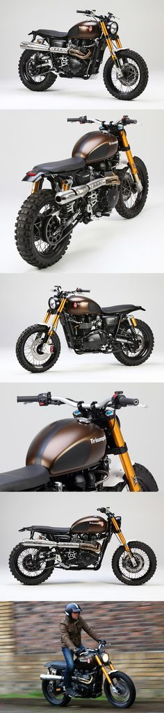 Something about the Triumph Scrambler which just says, Classic.... and I even like the Color