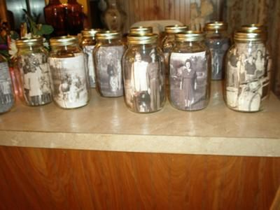 mason jars: I have been planning my family reunion for a year now and I am very excited that it is only 16 days away. I have so many things planned and I hope that