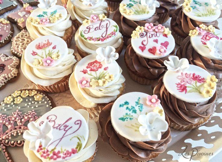 cupcakes pictati botez fete