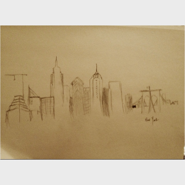 Sketching New York.