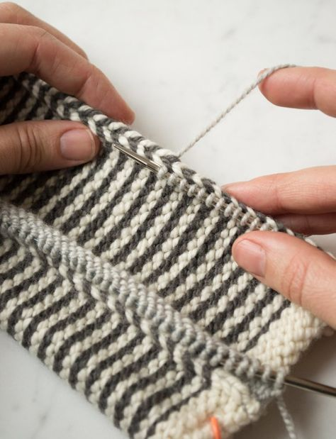 THE BEST tutorial on steeks I have ever seen! Also includes knitted facings, which I had not known about before! Learn-to-Love-Steeks Blanket | Purl Soho