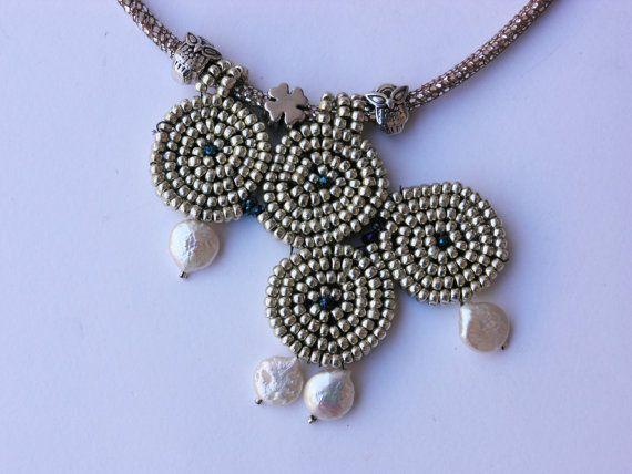 Collana in argento celtico.  Collana regolabile. di chajadana