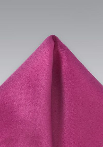 Cerise Pink Pocket Square | $4.95 at Cheap-Neckties