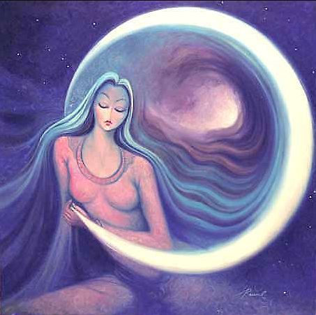 The waning moon symbolizes endings, the Crone aspect of the Goddess . . . but a new moon is coming, a new beginning