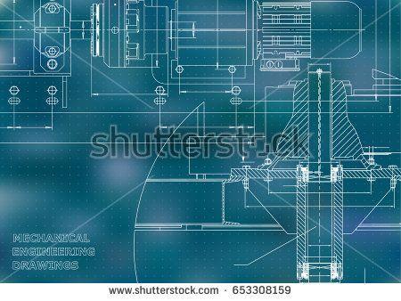Engineering backgrounds. Mechanical engineering drawings. Technical Design. Blueprints. Blue. Points  #bubushonok #art #bubushonokart #design #vector #shutterstock  #technical #engineering #drawing #blueprint   #technology #mechanism #draw #industry #construction #cad