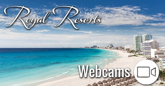 Take a look at our our webcams showing weather images updated anddiscover the beauty of Royal Resorts in Cancun and the Riviera Maya.