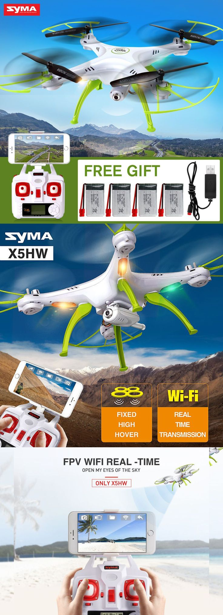 Syma X5HW 2.4G 4CH 6Axis FPV Drone with WIFI HD Camera Hover RC Quadcopter US | drone | syma | drone with camera | drone camera | drones for sale | dron | camera drone | best drones | rc drone | quadcopter with camera | best drones with camera | rc quadcopter | gopro drone | best camera drone | best quadcopter | quadcopter drone | quadcopter |