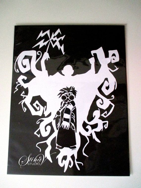 Magical Boy Wizard Harry Potter and Dark Sorcerer Voldemort Handmade Paper Cut by StinaVStudio