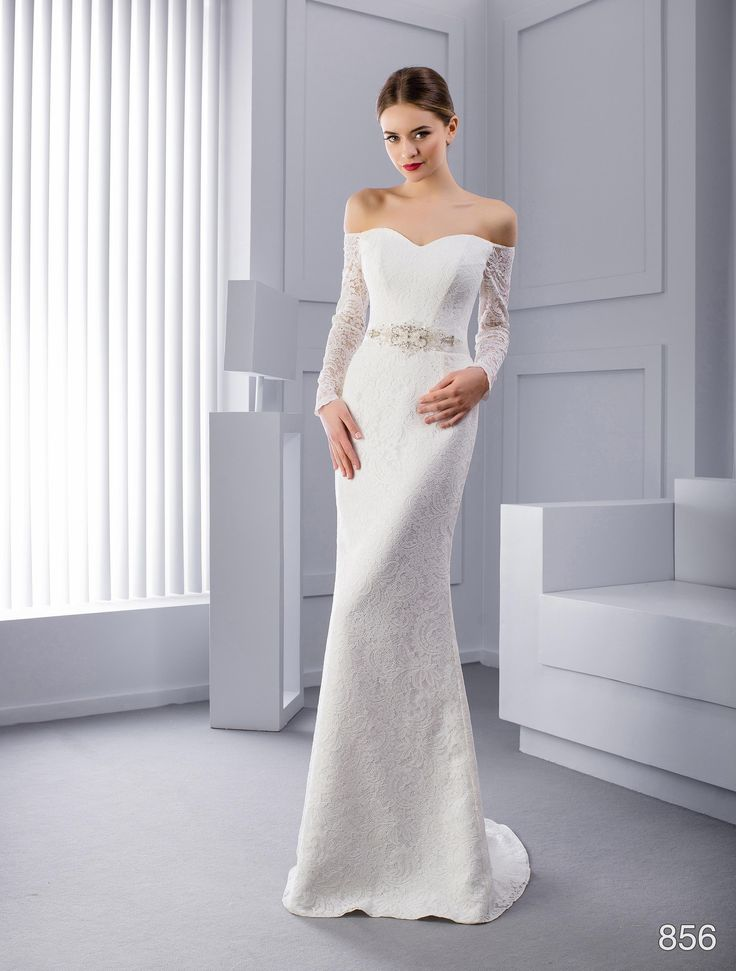 Unusual sheath wedding dress for 330 € with free shipping!