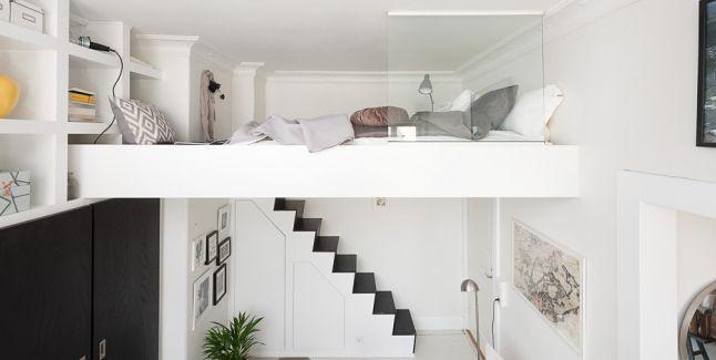 small space | sleeping loft