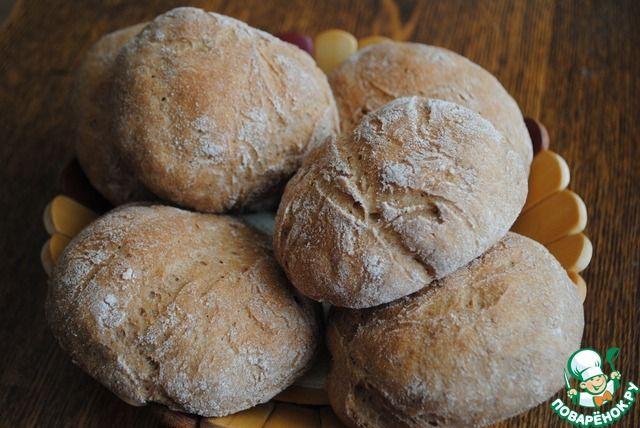 Булочки из цельнозерновой муки для гамбургеров ( МакМаффин) - кулинарный рецепт