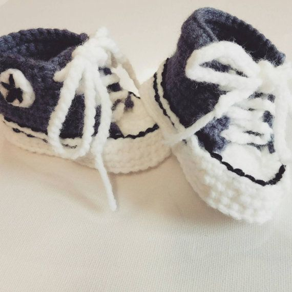 Check out this item in my Etsy shop https://www.etsy.com/listing/239362902/custom-handmade-crochet-baby-converse