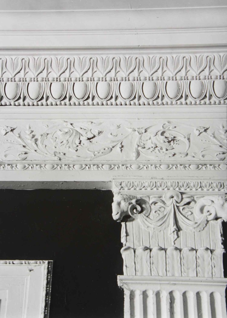 close up of plaster detail