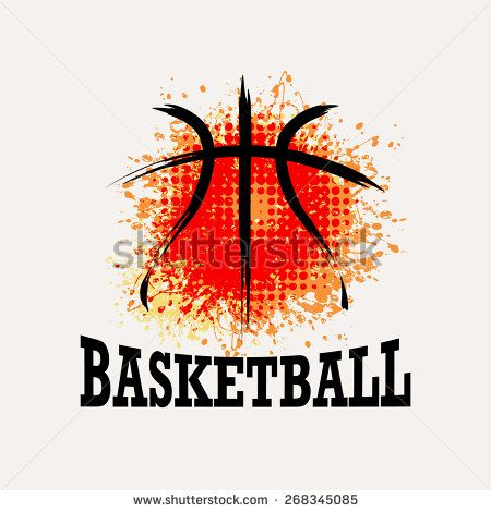 Vector Grunge Basketball  ( T-shirt, Poster, Banner, backdrops design ) - stock vector