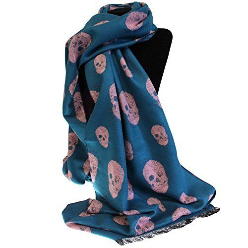 Unisex Rich Kid Skull Scarf - Teal & Pink by Ancient Wisdom, http://www.amazon.co.uk/dp/B00KWY1JIQ/ref=cm_sw_r_pi_dp_.1EqzbJXGQ6W5