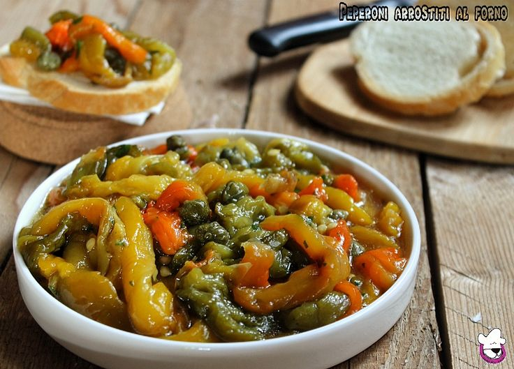 """I """"Peperoni arrostiti al forno"""" sono un antipasto o contorno semplice e saporito. Questa cottura esalta il sapore dei peperoni ed il fatto di essere spellati e di non avere la pellicina li rendeno facilmente digeribili."""