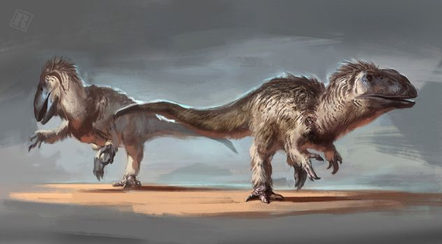 "Yutyrannus (meaning ""feathered tyrant"") is agenus of tyrannosauroid dinosaurs which contains a single known species, Yutyrannus huali. This species lived during the early Cretaceous period in what is now northeastern China."