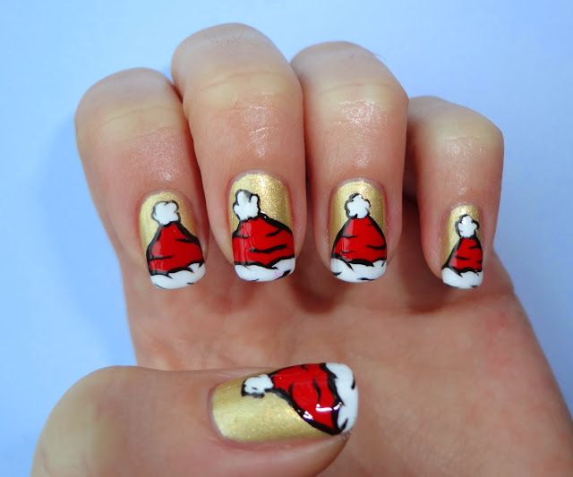 Santa Claus cap nails