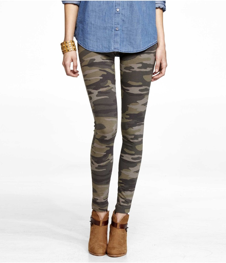SEXY STRETCH CAMO LEGGING | Express. I just got these and I'm loving them!