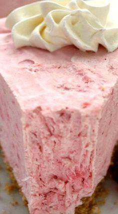 Did someone say no-bake?  No Bake Strawberry Cheesecake