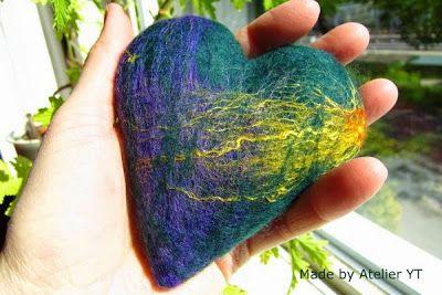 Felted heart. Atelier YT, textile mementoes