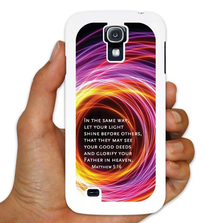 Matthew 5:16 White Plastic Samsung Galaxy S4 Case