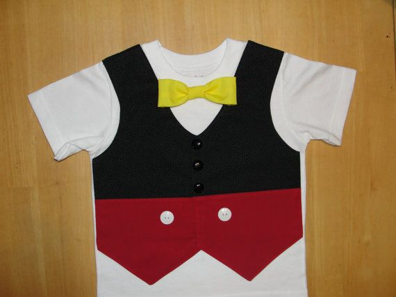 Mickey's Pants Bow Tie T Shirt Outfit Tuxedo Vest Halloween Costume, Disney Vacation, Mickey Mouse Birthday Party