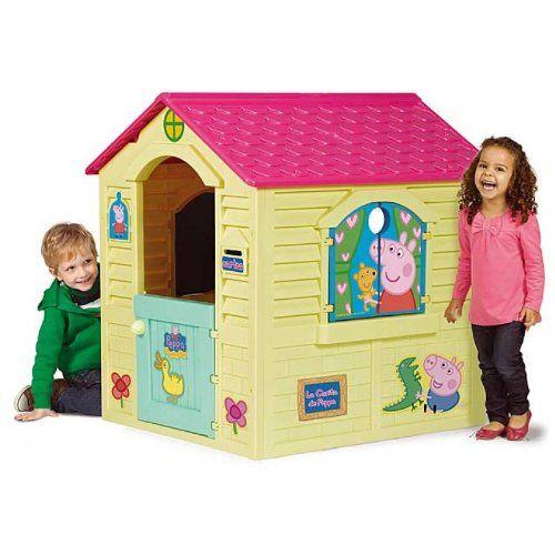 La casetta Peppa Pig con porta e finestra apribili e cassetta delle lettere. Adatta sia ad interni che esterni. Consentirà ai vostri bambini di giocare con i suoi personaggi preferiti in giardino o in spazi aperti in totale sicurezza.