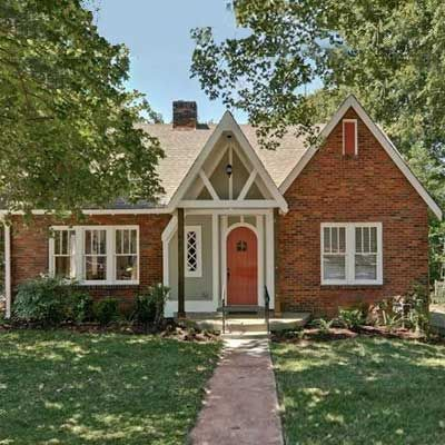 Restored the original charm | thisoldhouse.com | from Best Curb Appeal Before and Afters 2012: Colors Palat, Brick Ext, Blue Doors, This Old Houses, Paintings Ideas, Houses Curb, Front Doors, Exterior Colors, Ideas 28 Curb Appeal Jpg