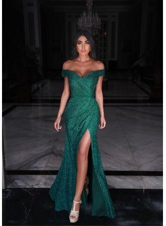 fashion abendkleider spitze grün  abiballkleider lang günstigabendkleiderkleider für