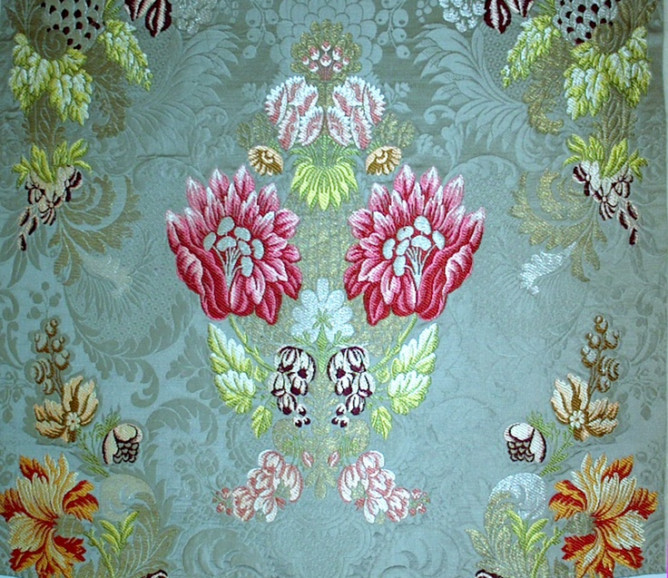 """Valencia"", manual silk fabric from Garin company (Valencia, Spain)"