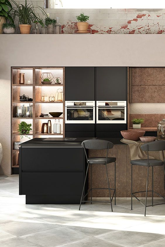 zwarte greeploze keuken cuisines noire sans poignes with avis cuisine alno. Black Bedroom Furniture Sets. Home Design Ideas