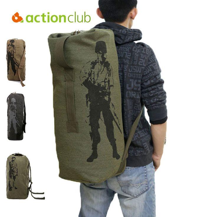 Actionclub Открытый Дорожный Багаж, Мешок Армии Холст Рюкзак Кемпинг Тактический Рюкзак Мужчин Военный Рюкзак mochila SH360 #hats, #watches, #belts, #fashion, #style