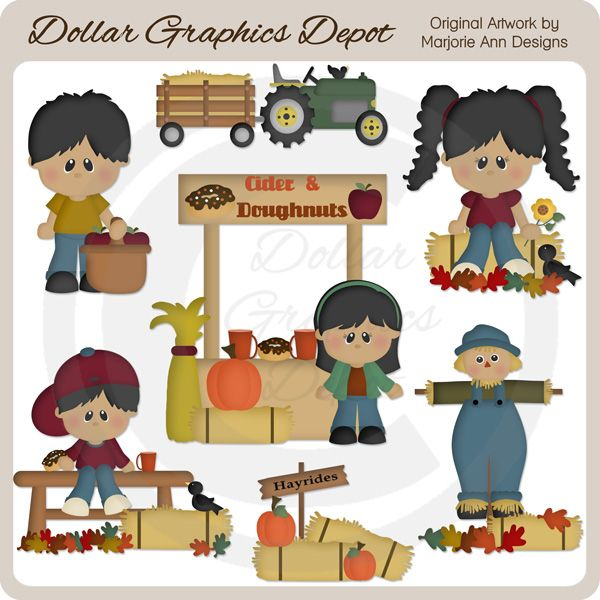 Fall Festival 2 Clip Art, by Marjorie Ann Designs - Only $1.00 at www.DollarGraphicsDepot.com : Great for printable crafts, web graphics, fall scrapbook pages, autumn greeting cards, gift boxes / bags, gift tags / labels, window decals, candy bar wrappers, calendars, and much more!