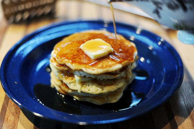 These really ARE the perfect pancakes. I use all-purpose flour but I sift it. I also use 1 c whole-wheat flour instead of 2 all-purpose white. Mmhmm! I then freeze them for quick breakfast meals on working days! The husband can't leave them alone.
