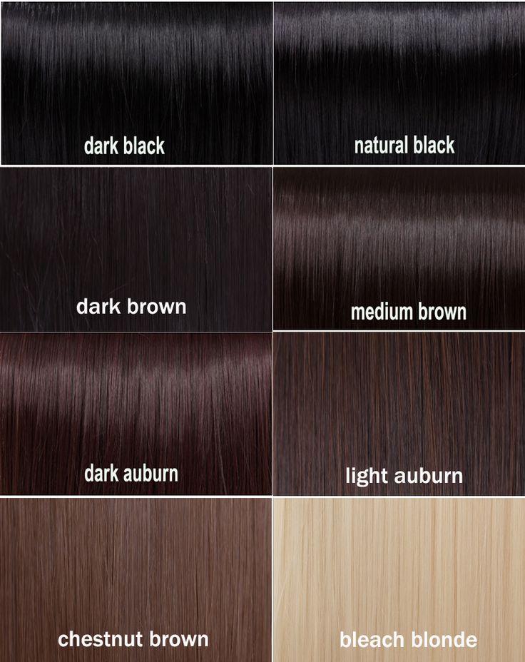 amazing dark brown hair color chart