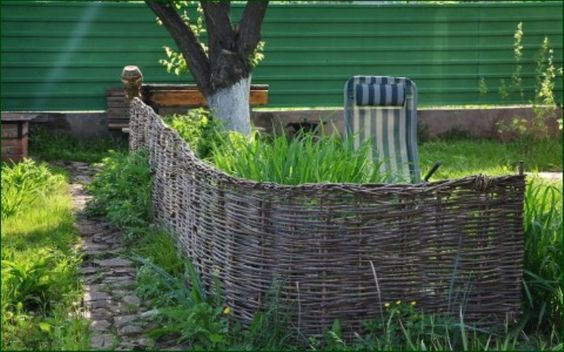 Плетёный забор для дачи - идеи для воплощения. Обсуждение на LiveInternet - Российский Сервис Онлайн-Дневников