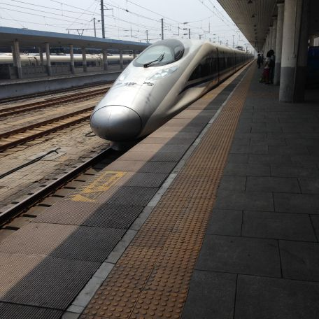 Bullet train from Shenyang to Dalian, China