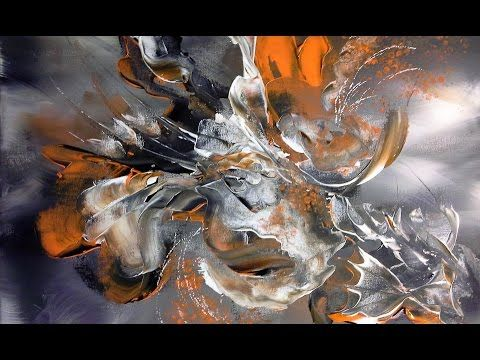 LOST-Einfach Malen-Abstract mit ÖLFARBEN-Easy Painting-Abstract with oil paint - YouTube